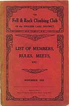 Thumbnail image of Fell & Rock Climbing Club 1923 Members cover