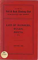 Thumbnail image of Fell & Rock Climbing Club 1926 Members cover
