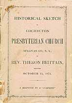Thumbnail image of Cochecton Presbyterian Church 1871 Member Roll cover