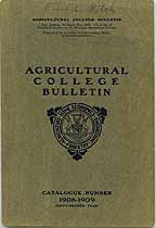 Thumbnail image of Agricultural College Bulletin 1908-1909 cover