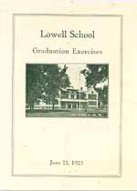 Thumbnail image of Lowell School 1923 Graduation Program cover