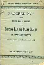 Thumbnail image of Citizens' Law and Order League 1890 Report cover