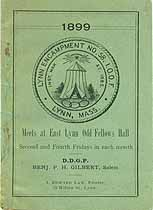 Thumbnail image of Lynn Encampment, Number 58 of I.O.O.F. 1899 cover