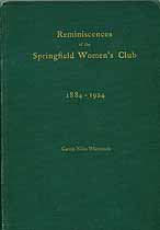 Thumbnail image of Reminiscences of the Springfield Women's Club cover