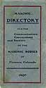 Thumbnail image of Florence Masonic 1907 Directory cover
