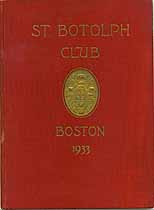 Thumbnail image of St. Botolph Club Boston 1933 cover