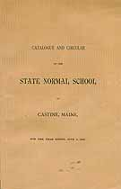 Thumbnail image of State Normal School 1892 Catalogue and Circular cover