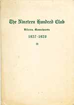 Thumbnail image of The Nineteen Hundred Club 1927-28 Roster cover