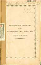 Thumbnail image of Falmouth First Congregational Church 1851 Roster cover