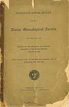Thumbnail image of Maine Genealogical Society 1897 Report cover