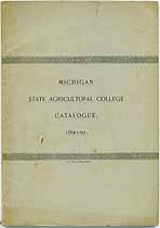 Thumbnail image of Michigan Agricultural College Bulletin 1890-1891 cover
