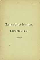 Thumbnail image of South Jersey Institute 1885-86 Catalogue cover