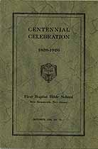 Thumbnail image of New Brunswick First Baptist Bible School Centennial cover