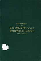 Thumbnail image of Ogden Memorial Presbyterian Church Centennial cover