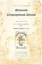 Thumbnail image of Plymouth Congregational Sons in Service cover