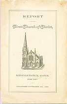 Thumbnail image of Middletown First Church of Christ 1887 Member List cover