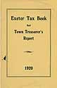 Thumbnail image of Exeter 1920 Tax Book and Report cover