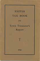 Thumbnail image of Exeter 1930 Tax Book and Report cover