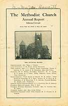 Thumbnail image of Athens Methodist Church 1917 Annual Report cover