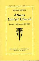 Thumbnail image of Athens Methodist Church 1936 Annual Report cover