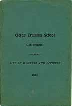Thumbnail image of Clergy Training School 1910 Member List cover