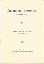 Thumbnail image of North Carolina Normal College 1914 Graduating Exercises cover