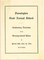 Thumbnail image of Farmington State Normal School 1926 Commencement cover