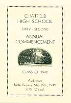 Thumbnail image of Chatfield High School 62nd Commencement cover