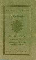 Thumbnail image of Davis Lodge No. 191, 1915 Roster cover
