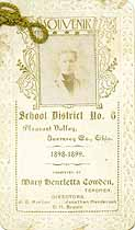 Thumbnail image of Pleasant Valley School 1898-1899 Souvenir cover