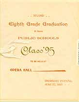 Thumbnail image of Harvey Public Schools 1895 Graduation Program cover