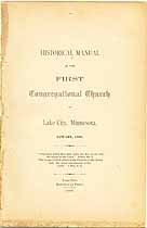Thumbnail image of Lake City First Congregational Church 1889 Manual cover