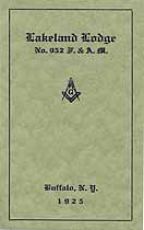 Thumbnail image of Lakeland Lodge No. 952, 1925 Roster cover
