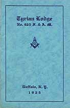 Thumbnail image of Tyrian Lodge No. 925, 1925 Roster cover