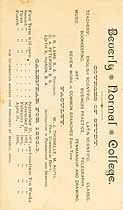 Thumbnail image of Beverly Normal College 1892-3 Calendar cover