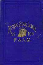 Thumbnail image of Rising Star Lodge No. 126, 1880 Roster cover