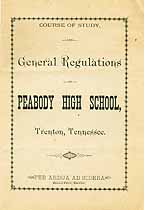 Thumbnail image of Peabody High School 1889-90 Catalogue cover