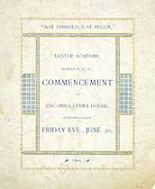 Thumbnail image of Ulster Academy 1899 Commencement cover