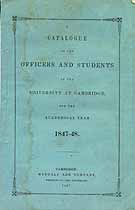 Thumbnail image of Univ. of Cambridge 1847-48 Catalogue cover