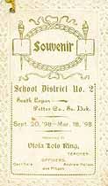 Thumbnail image of South Logan School 1898 Souvenir cover