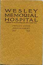 Thumbnail image of Wesley Memorial Hospital 1918 Report cover