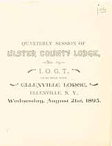 Thumbnail image of Ulster County Lodge 1895 Officers cover