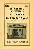 Thumbnail image of New Brunswick First Baptist Building Centennial cover