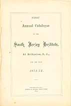 Thumbnail image of South Jersey Institute 1871-72 Catalogue cover