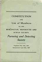 Thumbnail image of So. Jersey Pursuing and Detecting Society 1886 Members cover