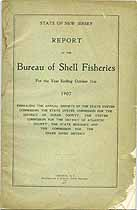 Thumbnail image of Bureau of N.J. Shell Fisheries 1907 Report cover