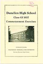 Thumbnail image of Dunellen High School 1937 Commencement cover
