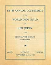 Thumbnail image of New Jersey World Wide Guild 1925 Conference cover