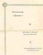Thumbnail image of St. Ann's School 1940 Commencement cover
