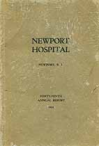 Thumbnail image of Newport Hospital 1922 Annual Report cover